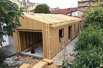 chantier maison en bois